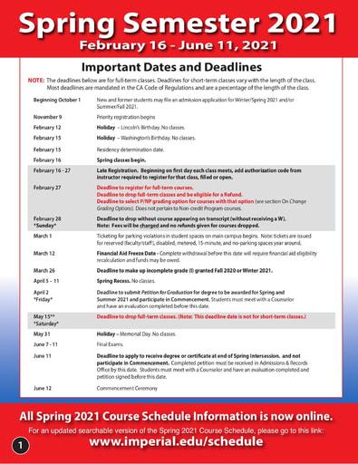 2021-02-16 - IVC Spring Schedule